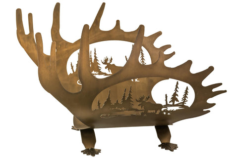 24 Inch W Moose Antler Log Holder - Meyda - Dropship Direct Wholesale