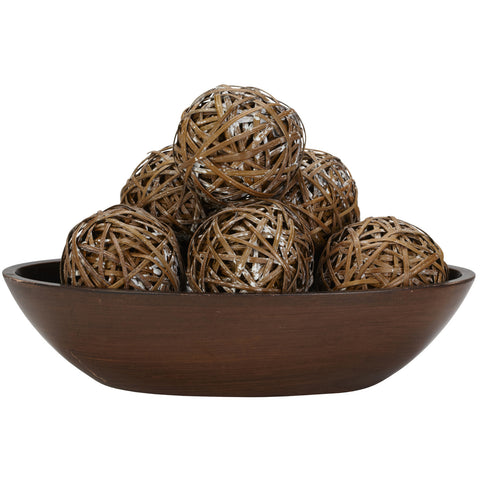 Decorative Balls (Set of 6) - Nearly Natural - Dropship Direct Wholesale