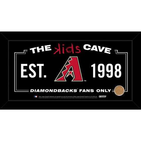 Arizona Diamondbacks 6x12 Kids Cave Sign w Game Used Dirt from Chase Field - Steiner Sports - Dropship Direct Wholesale