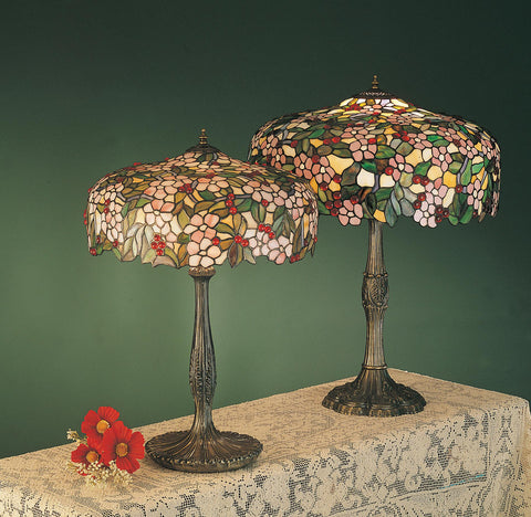 28.5 Inch H Tiffany Cherry Blossom Table Lamp - Meyda - Dropship Direct Wholesale