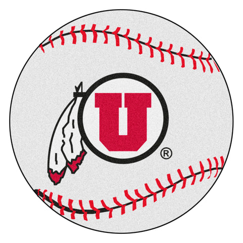 University of Utah Baseball Mat 27 diameter