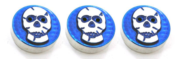 All Sales Interior Dash Knobs (set of 3)- Skull Blue - AMI - Dropship Direct Wholesale