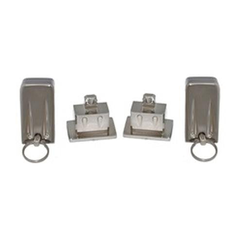 All Sales Hood Latch Pair - Chrome - AMI - Dropship Direct Wholesale