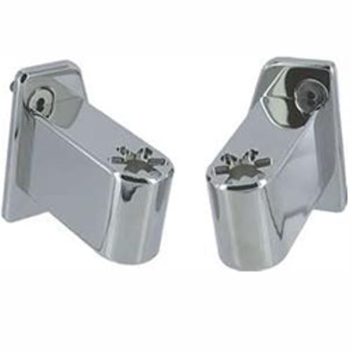All Sales Side Mirror Relocator Bracket - Pair (mirror head bolts on) Chrome - AMI - Dropship Direct Wholesale