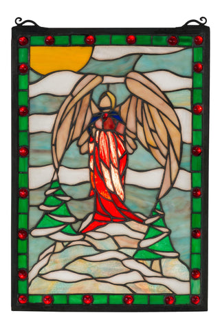 12 Inch W X 17 Inch H Winter Angel Stained Glass Window - Meyda - Dropship Direct Wholesale