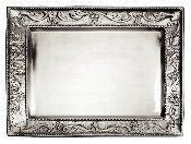 18 x 13.5 Antique Embossed Pewter Rectangular Tray - Old Dutch - Dropship Direct Wholesale