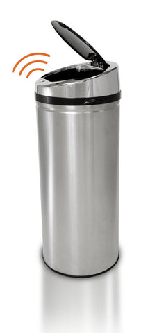 iTouchless 11 Gallon Round Stainless Steel Automatic Sensor Touchless Trash Can - iTouchless - Dropship Direct Wholesale