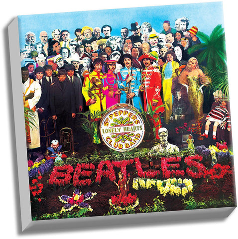 The Beatles Sgt Peppers Lonely Hearts Club Band 20x20 Stretched Canvas