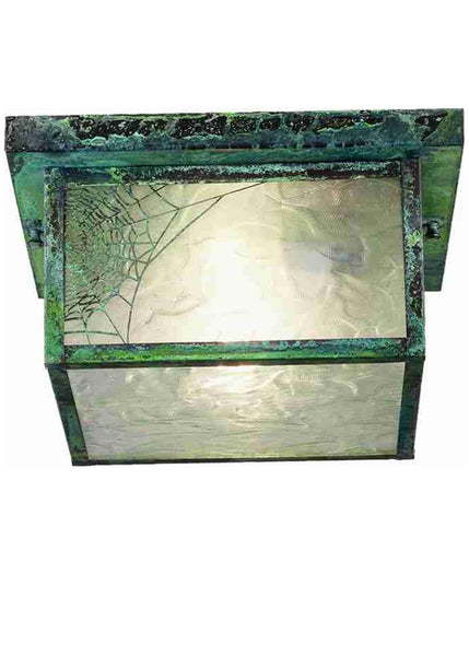 10 Inch Sq Hyde Park Spider Web Flushmount - Meyda - Dropship Direct Wholesale