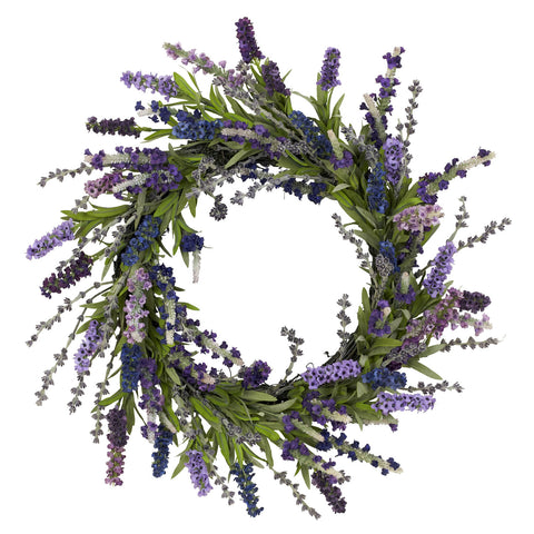 20in Lavender Wreath - Nearly Natural - Dropship Direct Wholesale
