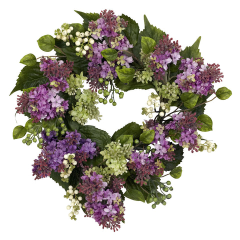 20in Hanel Lilac Wreath - Nearly Natural - Dropship Direct Wholesale