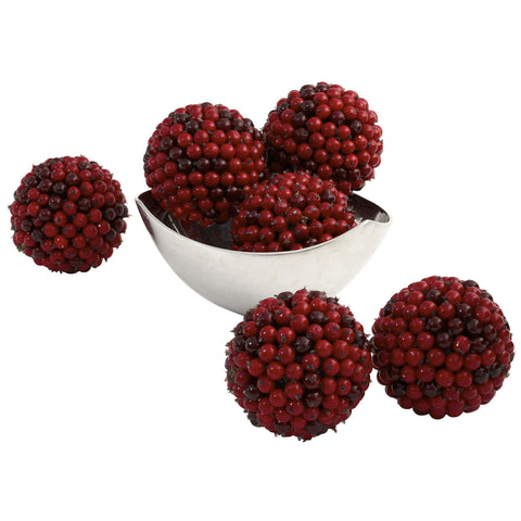 5in Red Berry Ball (Set of 6) - Nearly Natural - Dropship Direct Wholesale
