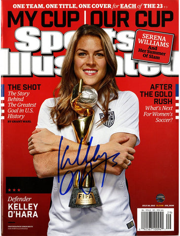 Kelley OHara Signed 2015 Womens World Cup Sports Illustrated Magazine