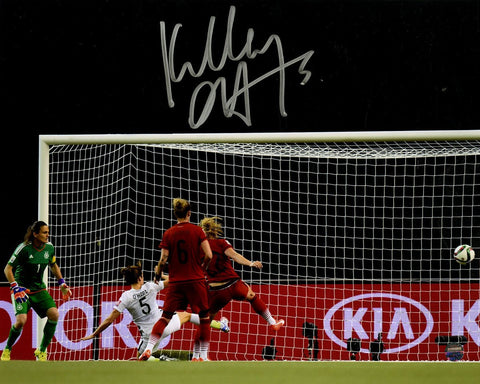 Kelley OHara Signed Team USA 2015 Womens World Cup Goal vs Germany 8x10 Photo
