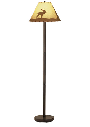 60 Inch H Lone Moose Painted Floor Lamp - Meyda - Dropship Direct Wholesale