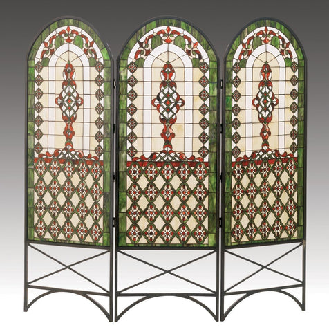 60 Inch W X 58 Inch H Quatrefoil Classical Room Divider - Meyda - Dropship Direct Wholesale