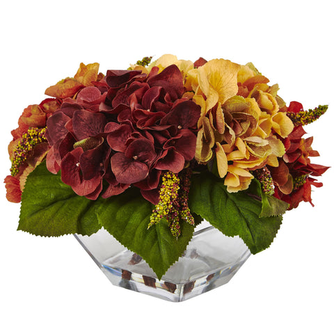 Autumn Hydrangea Berry w/Vase - Nearly Natural - Dropship Direct Wholesale