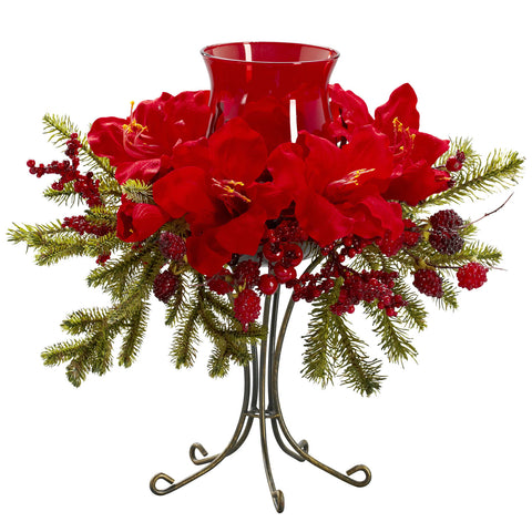 Amaryllis Candelabrum - Nearly Natural - Dropship Direct Wholesale
