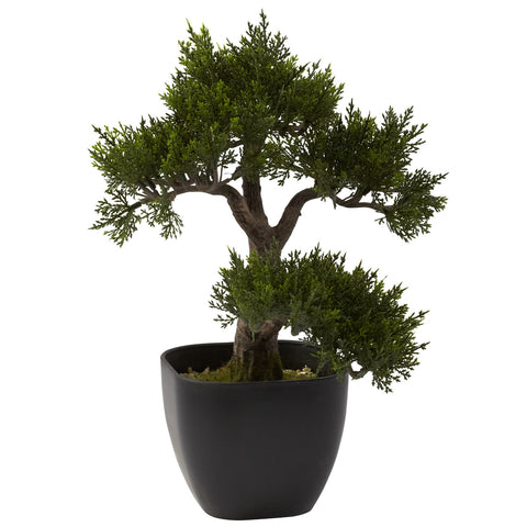 15in Cedar Bonsai - Nearly Natural - Dropship Direct Wholesale
