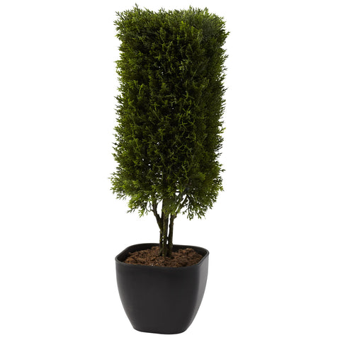 19in Cedar Column Topiary - Nearly Natural - Dropship Direct Wholesale