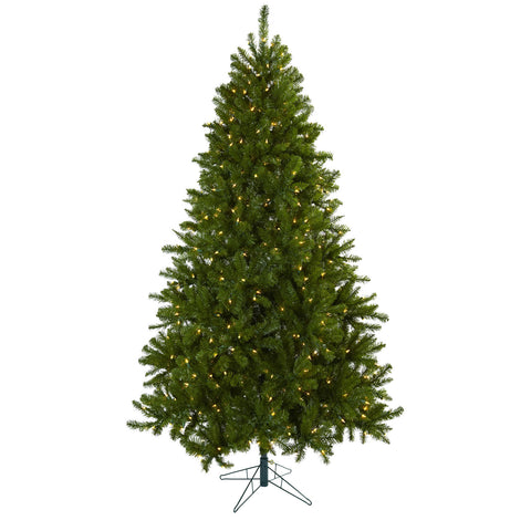 7.5ft Windermere Christmas Tree w/Clear Lights - Nearly Natural - Dropship Direct Wholesale