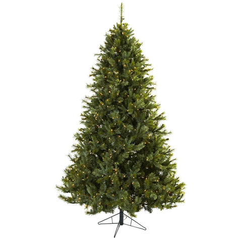 7.5ft Majestic Multi-Pine Christmas Tree w/Clear Lights - Nearly Natural - Dropship Direct Wholesale