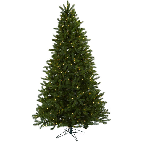 7.5ft Rembrandt Christmas Tree w/Clear Lights - Nearly Natural - Dropship Direct Wholesale