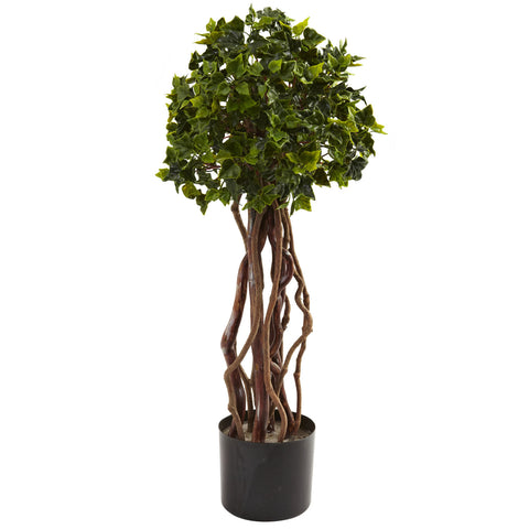 2.5ft English Ivy Topiary UV Resistant (Indoor/Outdoor) - Nearly Natural - Dropship Direct Wholesale