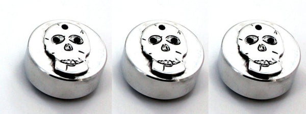 All Sales Interior Dash Knobs (set of 3)- Skull Polished - AMI - Dropship Direct Wholesale
