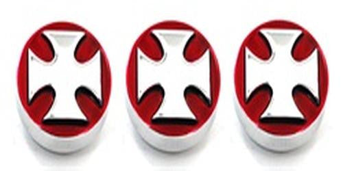 All Sales Interior Dash Knobs (set of 3)- Iron Cross Red - AMI - Dropship Direct Wholesale