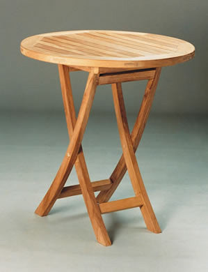 TBF027R 27-Inch Round Bistro Folding Table - Anderson Teak - Dropship Direct Wholesale