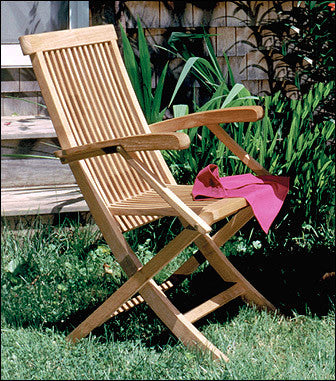 CHF102 Classic Folding Armchair - Anderson Teak - Dropship Direct Wholesale