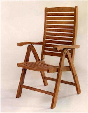 CHR118 Carina 5-Position Highback Recliner - Anderson Teak - Dropship Direct Wholesale