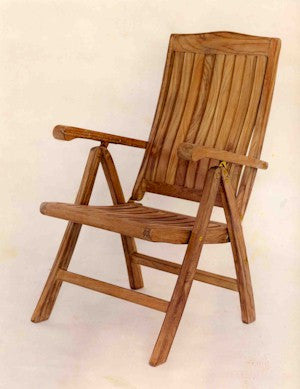CHR120 5-Position Recliner Folding Armchair - Anderson Teak - Dropship Direct Wholesale