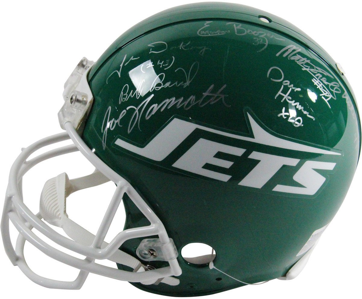 1969 New York Jets Team Signed Authentic 78-89 Throwback Helmet LE/1224 Signatures