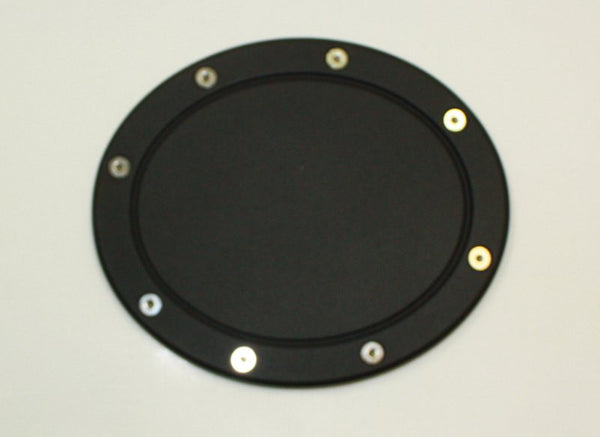 All Sales Race Style Billet Fuel Dr 7 3/8 Oval Ring O.D. No Door-Flat black Door - AMI - Dropship Direct Wholesale