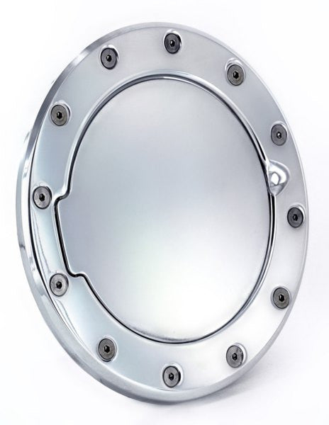 All Sales Race Style Billet Fuel Dr 7 1/8 Ring O.D. 5 1/8 Door O.D.-Chrome - AMI - Dropship Direct Wholesale
