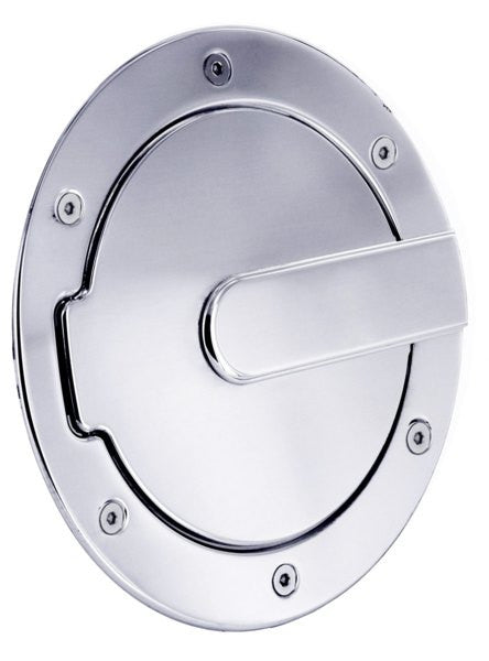 All Sales Race Style Billet Fuel Dr 7 Ring O.D. 5 1/8 Door O.D.-Brushed Chrome - AMI - Dropship Direct Wholesale