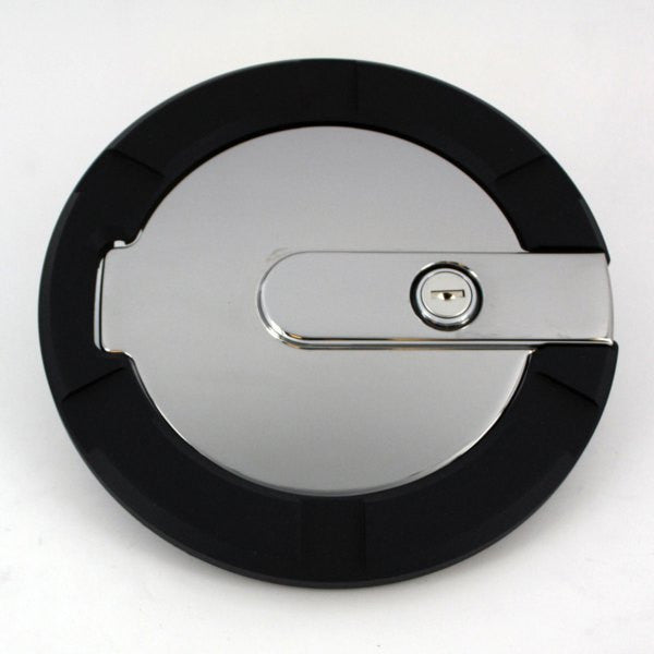 All Sales Striker Style Billet Fuel Dr 7 1/8 Ring O.D. 5 1/8 Door O.D. -Flat Black Ring and Chrome Locking D - AMI - Dropship Direct Wholesale