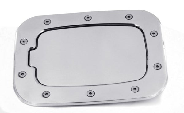 All Sales Race Style Billet Fuel Dr 10 3/8 X 7 5/8 Ring 8 X 4 5/8 Door -Brushed Chrome - AMI - Dropship Direct Wholesale
