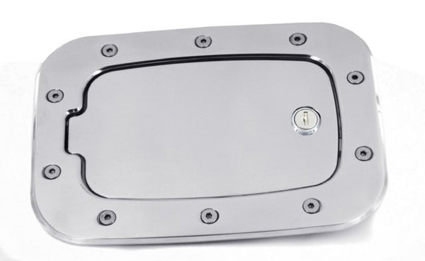 All Sales Race Style Billet Fuel Dr 10 3/8 X 7 5/8 Ring 8 X 4 5/8 Door -Brushed Chrome Locking - AMI - Dropship Direct Wholesale