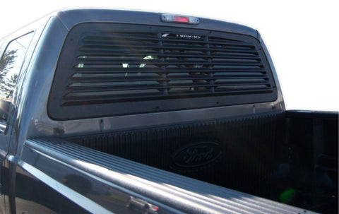 2008-2012 Ford F250 + Std/SuperCab/Super Crew Rear Window Louver - Mach-Speed - Dropship Direct Wholesale