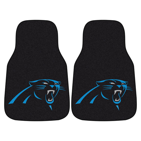 Carolina Panthers 2-piece Carpeted Car Mats 17x27 - FANMATS - Dropship Direct Wholesale