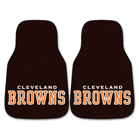 Cleveland Browns 2-piece Carpeted Car Mats 17x27 - FANMATS - Dropship Direct Wholesale