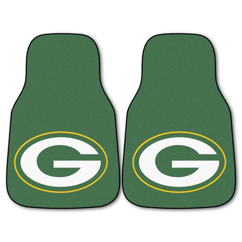 Green Bay Packers 2-piece Carpeted Car Mats 17x27 - FANMATS - Dropship Direct Wholesale