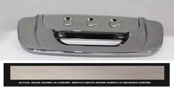 All Sales Brush Chrome Tailgate assembly-dimple - AMI - Dropship Direct Wholesale