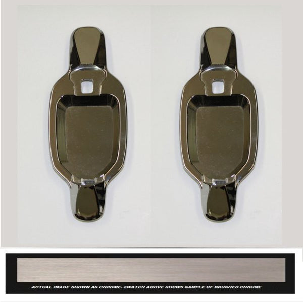 All Sales Brush Chrome LH & RH w/o Lock Rear Doors Buckets Only - AMI - Dropship Direct Wholesale