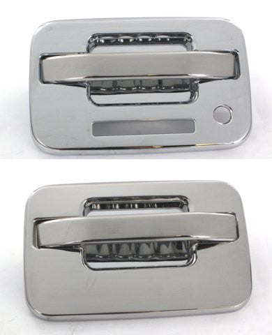 All Sales Chrome LH Lock plus keypad& RH No Lock - AMI - Dropship Direct Wholesale