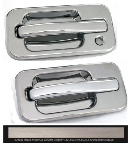 All Sales Brush Chrome LH w/Lock hole & RH w/o Lock - AMI - Dropship Direct Wholesale