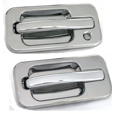 All Sales Chrome LH w/Lock hole & RH w/o Lock - AMI - Dropship Direct Wholesale